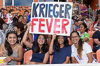 Houston, TX - Sunday Oct. 09, 2016: Fans during the National Women's Soccer League (NWSL) Championship match between the Washington Spirit and the Western New York Flash at BBVA Compass Stadium. The Western New York Flash win 3-2 on penalty kicks after playing to a 2-2 tie.