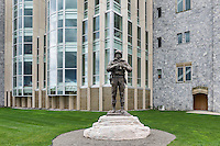 Bronze sculpture of General George Patton at West Point Military Academy, New York, USA