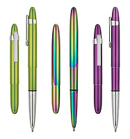 Fresh, boldly colored ballpoint pen group for print catalog and web marketing