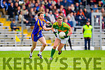 Denis Daly South Kerry in Action against Tadhg Morley Kenmare in the County Senior Football Semi Final at Fitzgerald Stadium Killarney on Sunday.