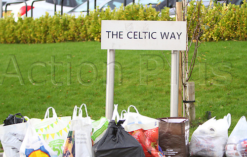 21.11.2015. Glasgow, Scotland. Scottish Premier League. Celtic versus Kilmarnock. Celtic fans arranged a food collection for local food banks before the match