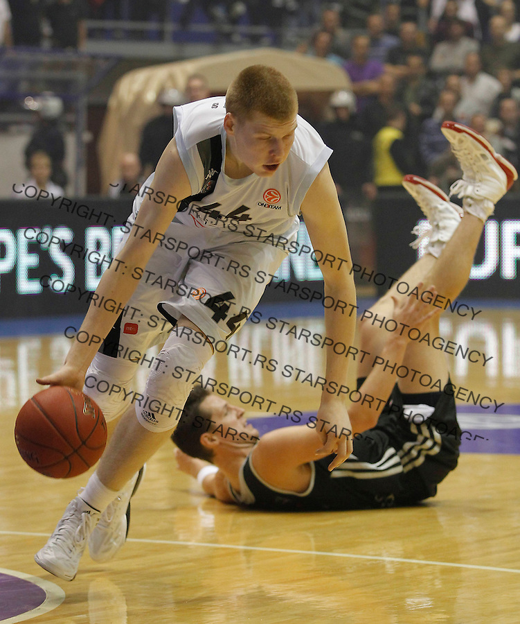 Kosarka Euroleague season 2012-2013.Partizan Vs. Brose Baskets Bamberg.Davis Bertans left.Beograd, 09.11.2012..foto: Srdjan Stevanovic/Starsportphoto ©