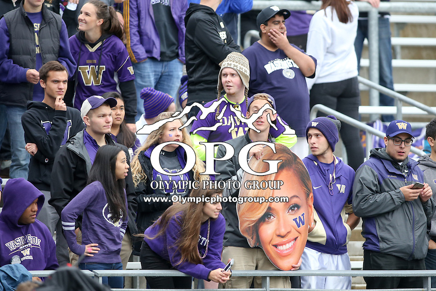 03 September 2016:  Washington fans cheered for the Huskies through out the game.  Washington defeated Rutgers 48-13 at the University of Washington in Seattle, WA.