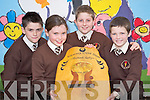 Pupils from Lissivigeen National School, Killarney, Daniel Keane, Aoife Sheehan, Darragh Elbel and Lorcan Martin, who competed in the All Ireland U11 Credit Union quiz finals in the RDS on Sunday. They received a contribution from Killarney Credit Union towards their expenses of reaching the final.