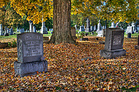 Otterbein Cemetery Mausoleum on a fall day. Shot in HDR.