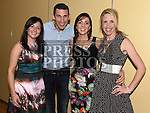 Catherine Kiernan, Robbie O;Rourke, Lisa Hand and Denise Fay pictured at the Team Carrie end of season dinner in the Grove Hotel Dunleer. Photo:Colin Bell/pressphotos.ie