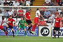 Darius Charles of Stevenage heads over<br />  Stevenage v Manchester United XI - Pre-season friendly - Lamex Stadium, Stevenage - 26th July, 2013<br />  © Kevin Coleman 2013