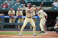 Taylor Walls (10) of the Florida State Seminoles at bat against the North Carolina Tar Heels in the 2017 ACC Baseball Championship Game at Louisville Slugger Field on May 28, 2017 in Louisville, Kentucky. The Seminoles defeated the Tar Heels 7-3. (Brian Westerholt/Four Seam Images)