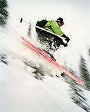 CANADA, BC Rockies, skiing on snowcapped mountains at Island Lake Lodge