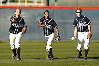 SAN ANTONIO, TX - MARCH 30, 2010: The University of Texas Longhorns vs. the University of Texas at San Antonio Roadrunners Softball at Roadrunner Field. (Photo by Jeff Huehn)
