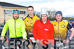 Participating in the Duathlon in Killorglin on Saturday were l-r: Ciaran Slattery Ballyferriter, Stephan Reidy Kilflynn, Milosz Wojicik Tralee and John Kelliher Kilgobnet