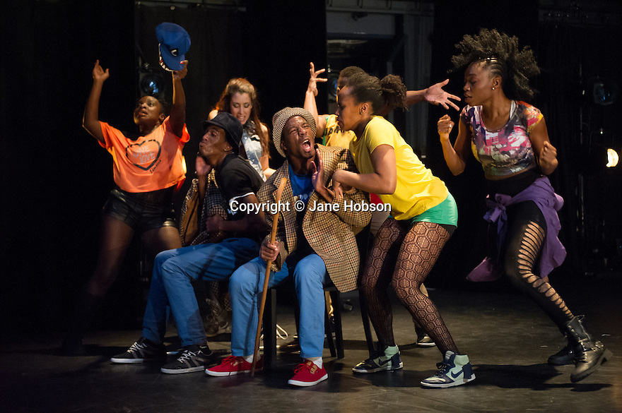 London, UK. 13.02.2014. Cindy Claes presents her Wild Card production of DANCEHALL TAKEOVER in the Lilian Baylis Studio, at Sadler's Wells. Picture shows: LIFE OF A SHADY. Photograph © Jane Hobson.