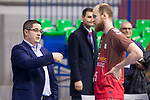 San Pablo Burgos coach Diego Epifanio and Thomas Schreiner during Liga Endesa match between San Pablo Burgos and Gipuzkoa Basket at Coliseum Burgos in Burgos, Spain. December 30, 2017. (ALTERPHOTOS/Borja B.Hojas)
