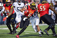 College Park, MD - NOV 25, 2017: Maryland Terrapins running back Ty Johnson (6) runs the football during game between Maryland and Penn State at Capital One Field at Maryland Stadium in College Park, MD. (Photo by Phil Peters/Media Images International)