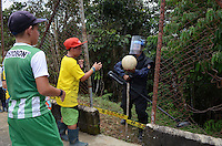 COCORNA - COLOMBIA, 16-04-2015. Miembros del ejercito de Colombia durante un entrenamiento  de desminado en Campo Alegre, municipio de Cocorná, Antioquia, Colombia 16 abril de 2015./ Colombian Army soldiers during a demining training in Campo Alegre, Cocorna municipality, Antioquia department, Colombia on April 16, 2015.  Photo: VizzorImage/ León Monsalve /STR