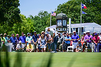 Si Woo Kim (KOR) watches his putt on 9 during the round 1 of the Dean &amp; Deluca Invitational, at The Colonial, Ft. Worth, Texas, USA. 5/25/2017.<br /> Picture: Golffile | Ken Murray<br /> <br /> <br /> All photo usage must carry mandatory copyright credit (&copy; Golffile | Ken Murray)