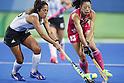 (L-R) Aguirre Gabriela (ARG), Hazuki Yuda (JPN),<br /> AUGUST 8, 2016 - Hockey : <br /> Women's Pool Match <br /> between Japan Women's 0-4 Argentina Women's <br /> at Olympic Hockey Centre <br /> during the Rio 2016 Olympic Games in Rio de Janeiro, Brazil. <br /> (Photo by Yusuke Nakanishi/AFLO SPORT)