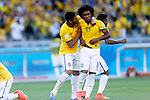 (L-R) Hulk, Willian (BRA),<br /> JUNE 28, 2014 - Football / Soccer :<br /> Hulk and Willian of Brazil celebrate after winning the penalty shoot out during the FIFA World Cup Brazil 2014 Round of 16 match between Brazil 1(3-2)1 Chile at Estadio Mineirao in Belo Horizonte, Brazil. (Photo by D.Nakashima/AFLO)