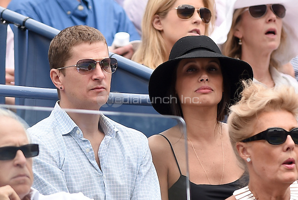 FLUSHING NY- AUGUST 30:  Matchbox Twenty front man Rob Thomas and his wife Marisol at the 2014 US Open on August 30, 2014 in Flushing Queens. Credit: mpi04/MediaPunch