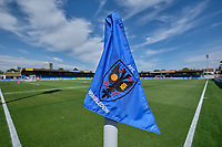 General view of the ground with corner flag ahead of AFC Wimbledon vs Wycombe Wanderers, Sky Bet EFL League 1 Football at the Cherry Red Records Stadium on 31st August 2019