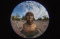Busto de la maestra Emiliana de Zubeldia. Universidad de Sonora. en la plaza Emiliana de Zubeldia  Hermosillo, Sonora.