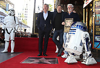 08 March 2018 - Hollywood, California - Harrison Ford, Mark Hamill, George Lucas. Mark Hamill Honored With Star On The Hollywood Walk Of Fame.  <br /> CAP/ADM/FS<br /> &copy;FS/ADM/Capital Pictures