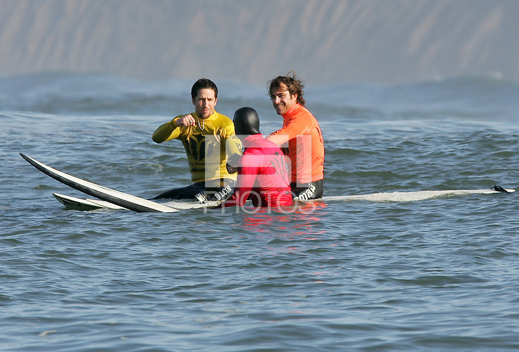 Kenny Skinydog Collins, Carlos Burle, Alex Martin. Mavericks Surf Contest in Half Moon Bay, California on February 13th, 2010.