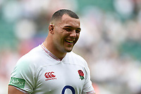 Ellis Genge of England is all smiles after the match. Quilter International match between England and Wales on August 11, 2019 at Twickenham Stadium in London, England. Photo by: Patrick Khachfe / Onside Images