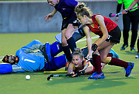 Action from the Wellington Hockey women's open grade premier one match between Hutt United and Kapiti at National Hockey Stadium in Wellington, New Zealand on Sunday, 19 May 2019. Photo: Dave Lintott / lintottphoto.co.nz