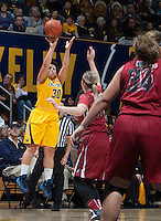 Mikayla Lyles of California shoots the ball during the game against Washington State at Haas Pavilion in Berkeley, California on February 27th, 2014.   California defeated Washington State, 75-68.
