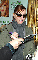 NEW YORK, NY - JANUARY 2: Judy Greer signing at her Broadway play Dead Accounts at the Music Box in New York City. January 2, 2013. Credit: RW/MediaPunch Inc.