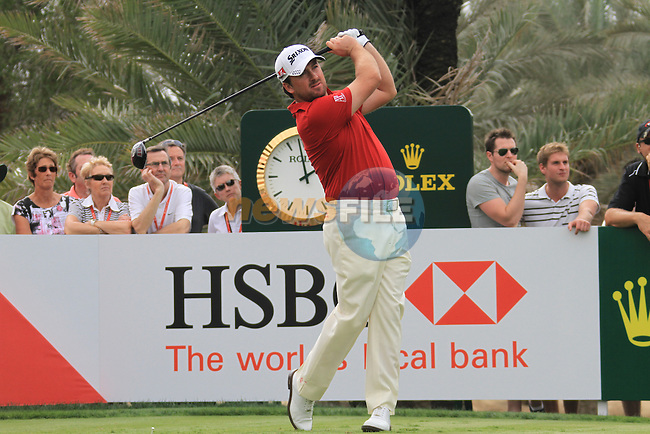 Graeme McDowell teeing off on the 9th tee on day one of the Abu Dhabi HSBC Golf Championship 2011, at the Abu Dhabi golf club, UAE. 20/1/11..Picture Fran Caffrey/www.golffile.ie.