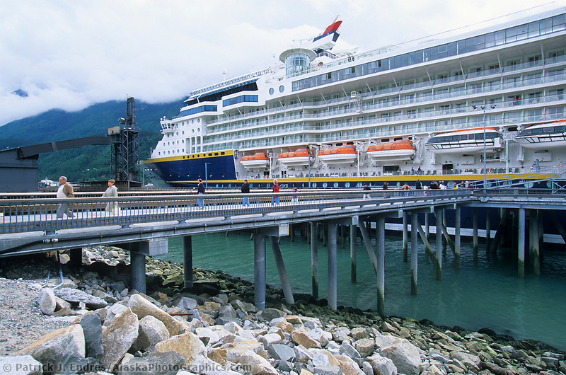 Holland America cruise ship Zaandam, docked in Skagway, end of the Lynn Canal, Southeast, Alaska