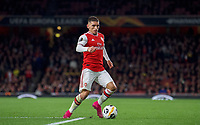 Lucas Torreira of Arsenal during the UEFA Europa League match between Arsenal and Standard Liege at the Emirates Stadium, London, England on 3 October 2019. Photo by Andrew Aleks.