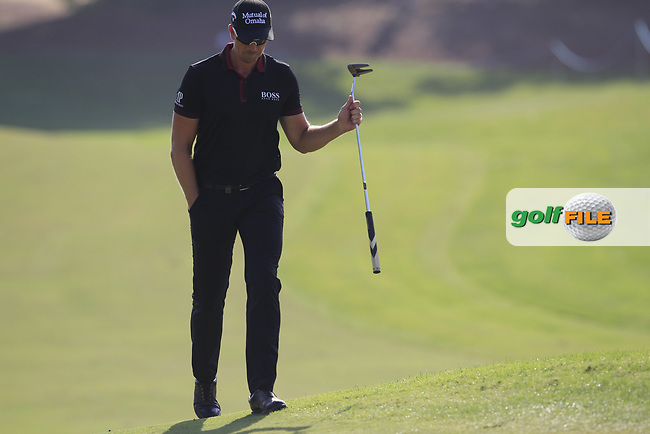 Henrik Stenson (SWE) on the 15th fairway during the final round of the DP World Tour Championship, Jumeirah Golf Estates, Dubai, United Arab Emirates. 18/11/2018<br /> Picture: Golffile | Fran Caffrey<br /> <br /> <br /> All photo usage must carry mandatory copyright credit (&copy; Golffile | Fran Caffrey)