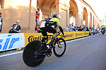 Esteban Chaves (COL) Mitchelton-Scott on the San Luca climb during Stage 1 of the 2019 Giro d'Italia, an individual time trial running 8km from Bologna to the Sanctuary of San Luca, Bologna, Italy. 11th May 2019.<br /> Picture: Eoin Clarke | Cyclefile<br /> <br /> All photos usage must carry mandatory copyright credit (© Cyclefile | Eoin Clarke)
