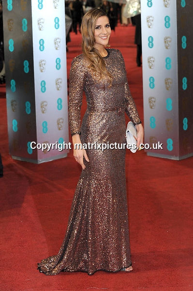 NON EXCLUSIVE PICTURE: PAUL TREADWAY / MATRIXPICTURES.CO.UK.PLEASE CREDIT ALL USES..WORLD RIGHTS..Irish TV presenter Amanda Byram attending the 2013 EE British Academy Film Awards, at London's Royal Opera House...FEBRUARY 10th 2013..REF: PTY 13945