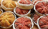 Nederland - Amsterdam - Januari 2019.  HORECAVA beurs in de RAI.  Nieuwe brood varianten bij Chaupain. Brood waarin groenten zoals bietjes zijn verwerkt.   Foto Berlinda van Dam / Hollandse Hoogte
