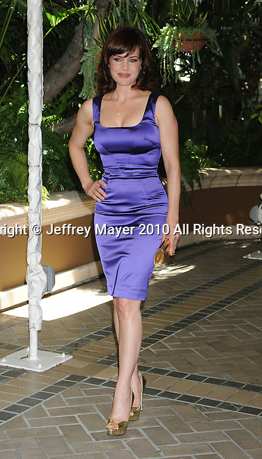BEVERLY HILLS, CA. - July 28: Carla Gugino arrives at The Hollywood Foreign Press Association Annual Installation Luncheon held at The Four Seasons Hotel on July 28, 2010 in Beverly Hills, California.