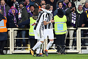 9th February 2018, Stadio Artemio Franchi, Florence, Italy; Serie A football, ACF Fiorentina versus Juventus; (L-R) Federico Bernardeschi of Juventus celebrates with his teammate Gonzalo Higuain after scoring in the 56th minute
