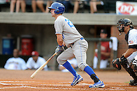 Burlington Royals center fielder Bubba Starling #23 swings at a pitch during  a game against the Greenville Astros at Pioneer Park on August 17, 2012 in Greenville, Tennessee. The Astros defeated the Royals 5-1. (Tony Farlow/Four Seam Images).