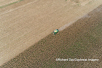 63801-12613 Harvesting corn in fall-aerial  Marion Co. IL