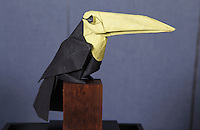 Origami toucan designed and folded by Michael LaFosse on display at the OrigamiUSA 2013 Convention exhibition