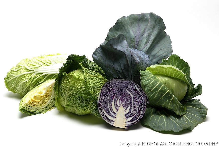 Cabbage still life.