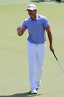 Brooks Koepka (USA) after sinking his putt on 12 during Friday's round 2 of the 117th U.S. Open, at Erin Hills, Erin, Wisconsin. 6/16/2017.<br /> Picture: Golffile | Ken Murray<br /> <br /> <br /> All photo usage must carry mandatory copyright credit (&copy; Golffile | Ken Murray)