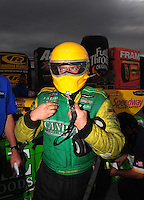 Nov. 1, 2008; Las Vegas, NV, USA: NHRA funny car driver Tony Bartone during qualifying for the Las Vegas Nationals at The Strip in Las Vegas. Mandatory Credit: Mark J. Rebilas-
