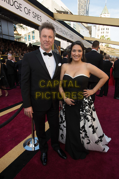 Oscar&reg;-nominee, Jon Taylor, and guest arrive at The 88th Oscars&reg; at the Dolby&reg; Theatre in Hollywood, CA on Sunday, February 28, 2016.<br /> *Editorial Use Only*<br /> CAP/PLF<br /> Supplied by Capital Pictures