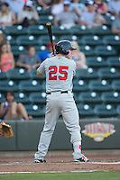 Jayce Ray (25) of the Salem Red Sox at bat against the Winston-Salem Dash at BB&T Ballpark on June 16, 2016 in Winston-Salem, North Carolina.  The Dash defeated the Red Sox 7-1.  (Brian Westerholt/Four Seam Images)