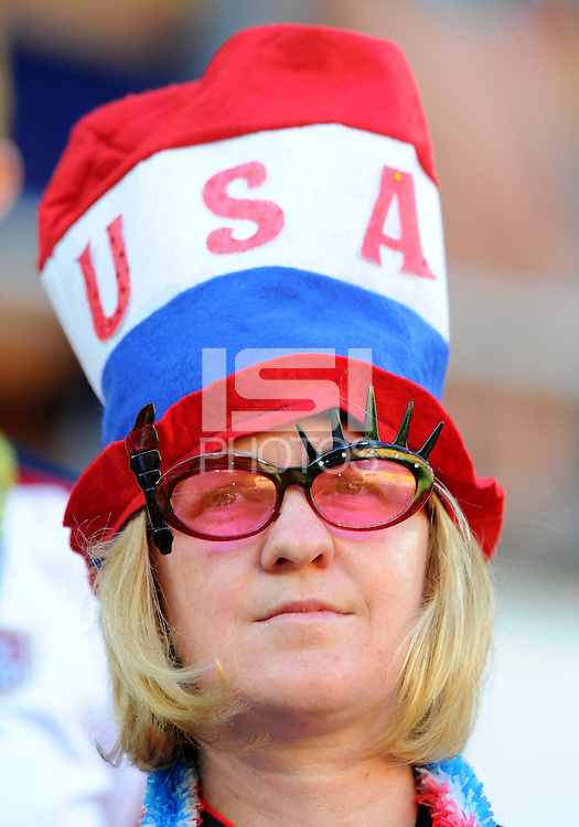 Fan of team USA during the FIFA Women's World Cup at the FIFA Stadium in Dresden, Germany on June 28th, 2011.
