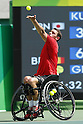Gerard Joachim (BEL),<br /> SEPTEMBER 13, 2016 - Wheelchair Tennis : <br /> Men's Singles Quater-Final<br /> at Olympic Tennis Centre<br /> during the Rio 2016 Paralympic Games in Rio de Janeiro, Brazil.<br /> (Photo by Shingo Ito/AFLO)